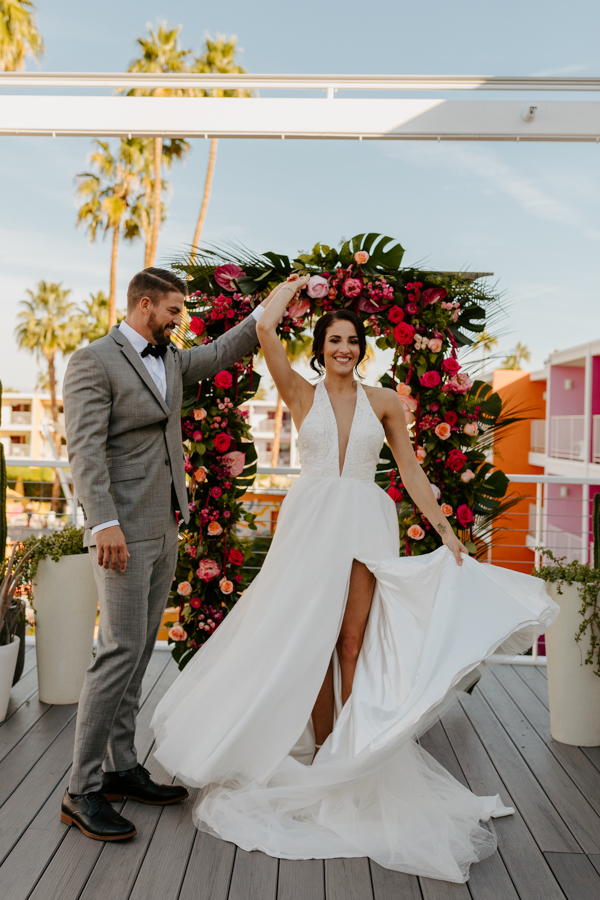 Palm Springs Wedding Photographer The Saguaro Hotel