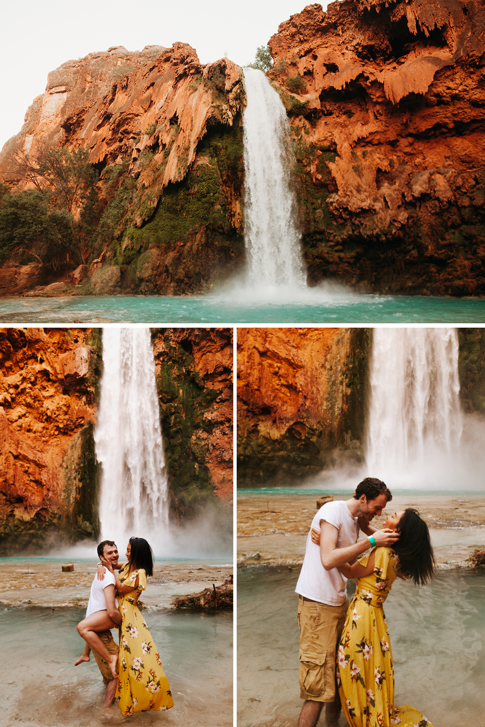 Havasupai Falls Grand Canyon Arizona Havasu Falls Engagement Shoot