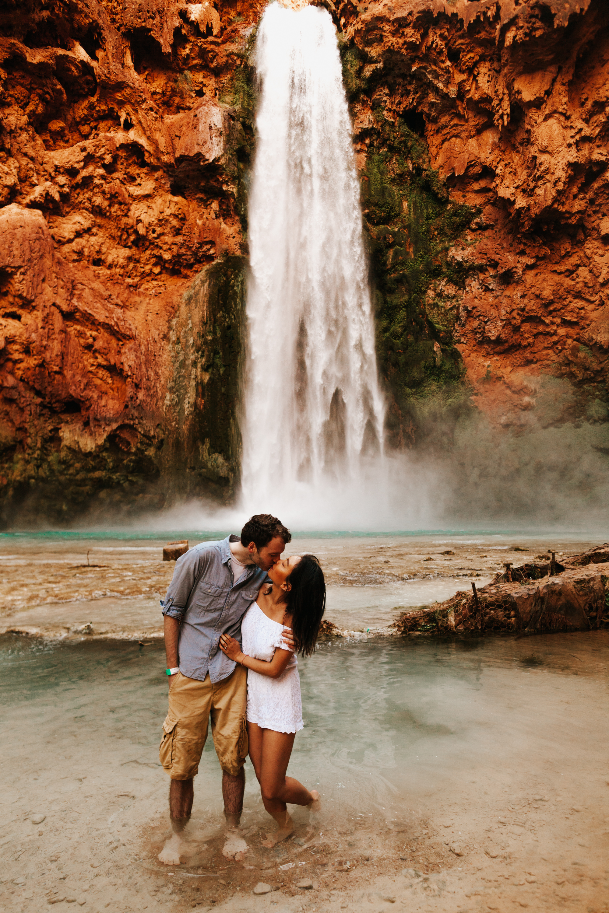Havasupai Falls Grand Canyon Arizona Havasu Falls  Couples Engagement Shoot | Tida Svy | www.tidasvy.com