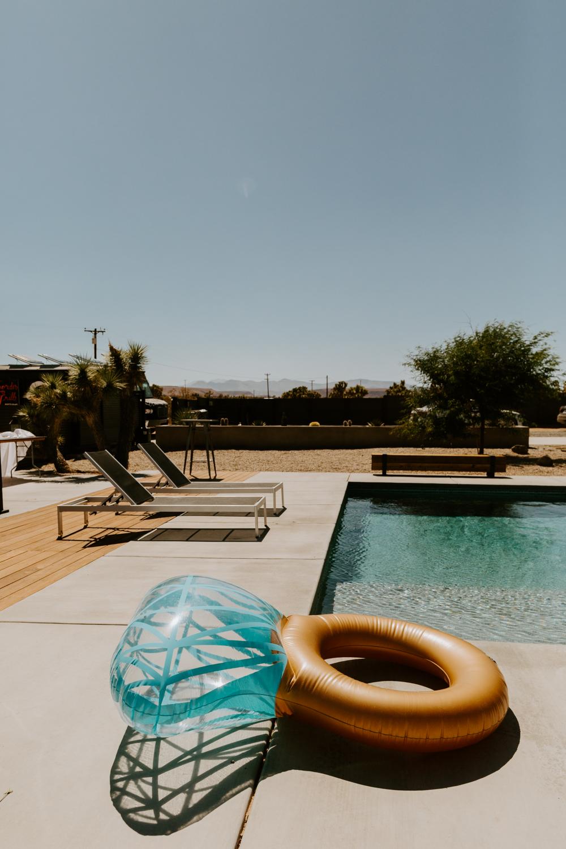 Joshua Tree Airbnb Wedding Pool Ring Floatie   JT Serenity Escape   Tida Svy   www.tidasvy.com