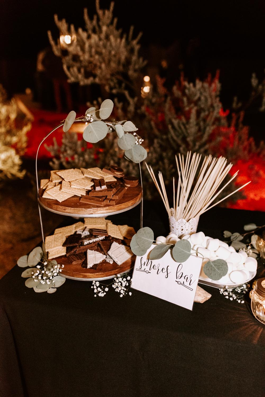 Smores bar   Joshua Tree Wedding Photographer   JT Serenity Escape Airbnb Wedding   Tida Svy   www.tidasvy.com
