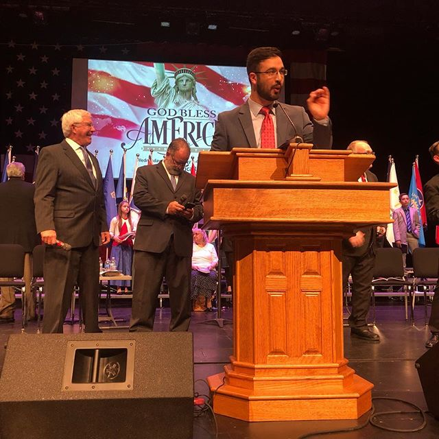 Anything look familiar in this picture from #gba2019ohio?! No, not Bro. @micahmccurry ! That's OUR pulpit here at @fbckenmore! Praise God for the powerful messages preached by Bro. @cspauley behind this simple wooden desk!
