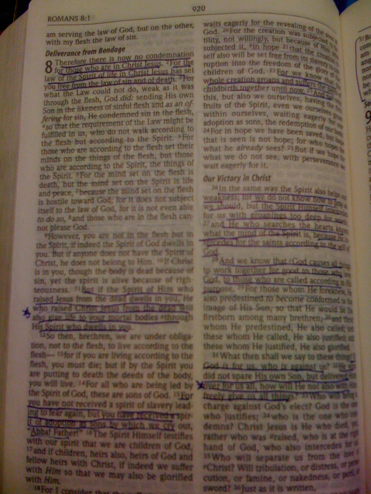 How I mark my Bible. Romans.