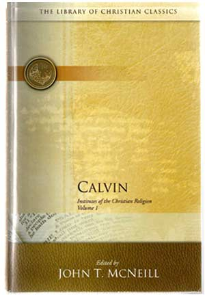 Calvin's Institutes of Christian Religion book giveaway.