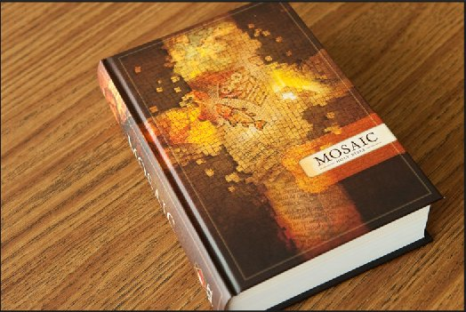 Holy Bible Mosaic hard cover.