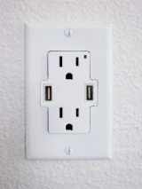 USB outlet.