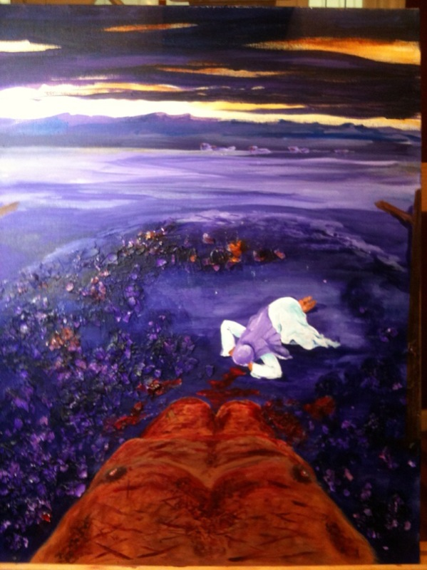 View From the Cross. Original painting by Lillian Jane Neal, Emmanuel Fellowship Church, Sweetwater, Texas.