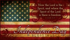 Where the Spirit of the Lord is, there is freedom. 2 Corinthians 3:17
