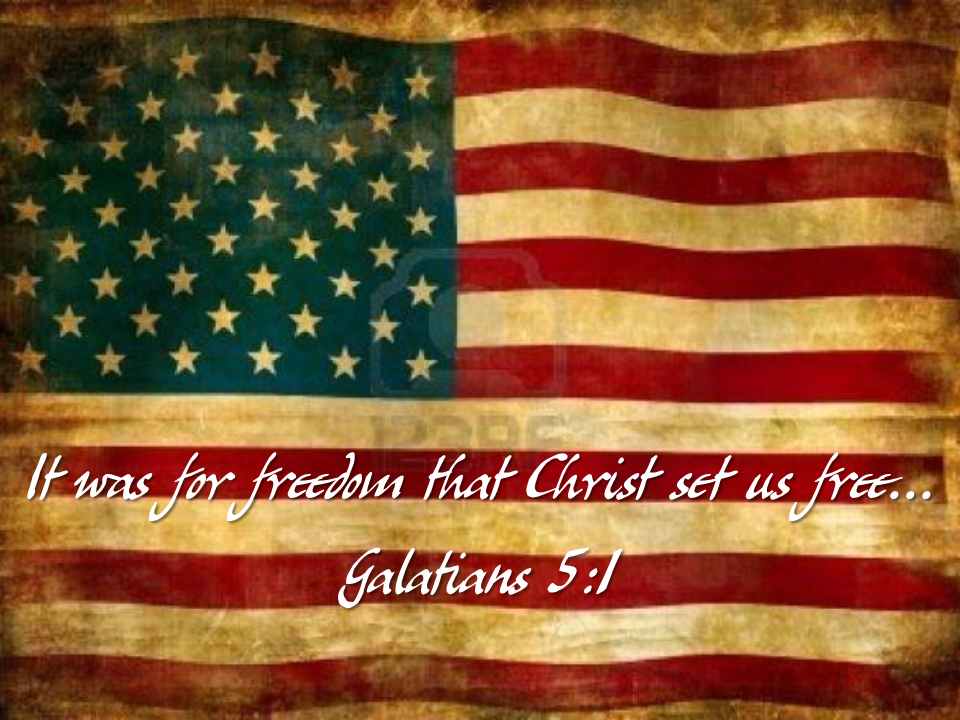 It was for freedom that Christ set us free... John 8:36