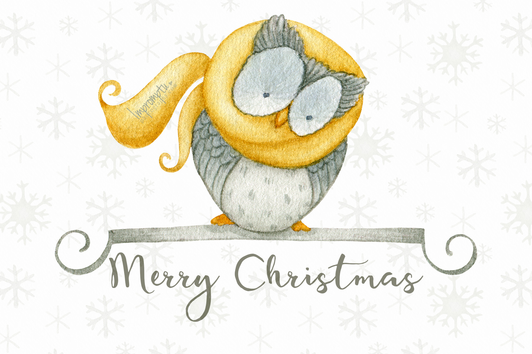 Owl wishing a merry christmas ©ImpromtpuPhotography .jpg