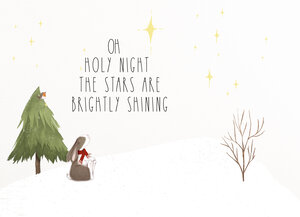 NEW! Oh Holy Night Christmas Labels Customizable