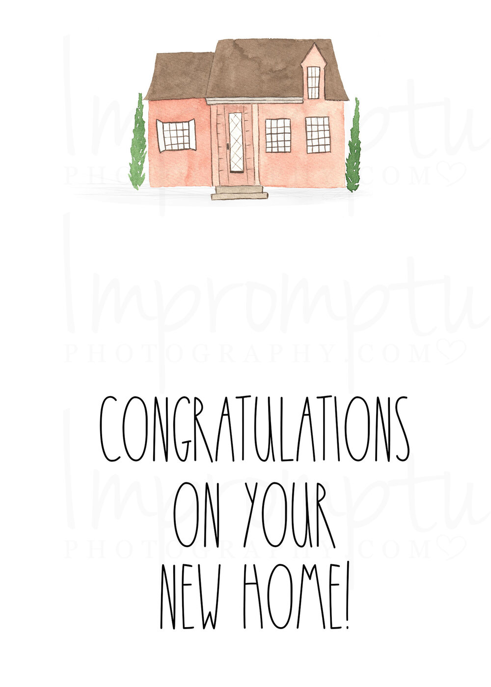 Rae Dunn Inspired Congratulations On Your New Home Card Impromptu Photography
