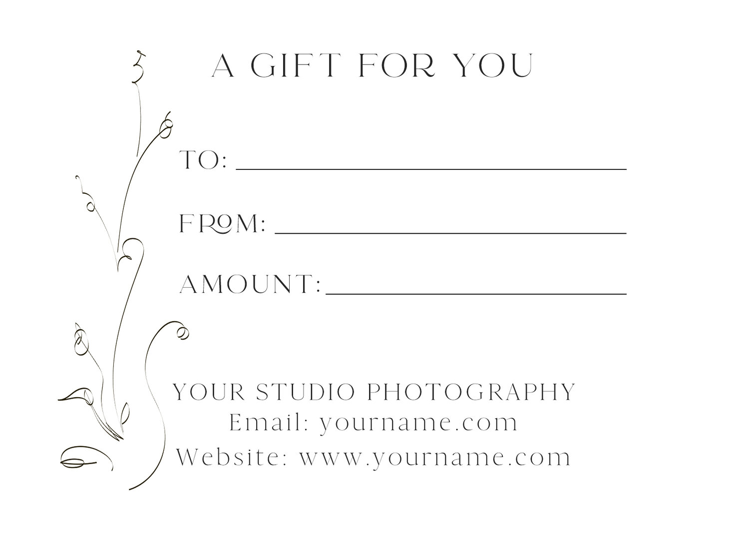 FREE - Charity Word Art Set - Overlays with a Gift Certificate Within Free Photography Gift Certificate Template
