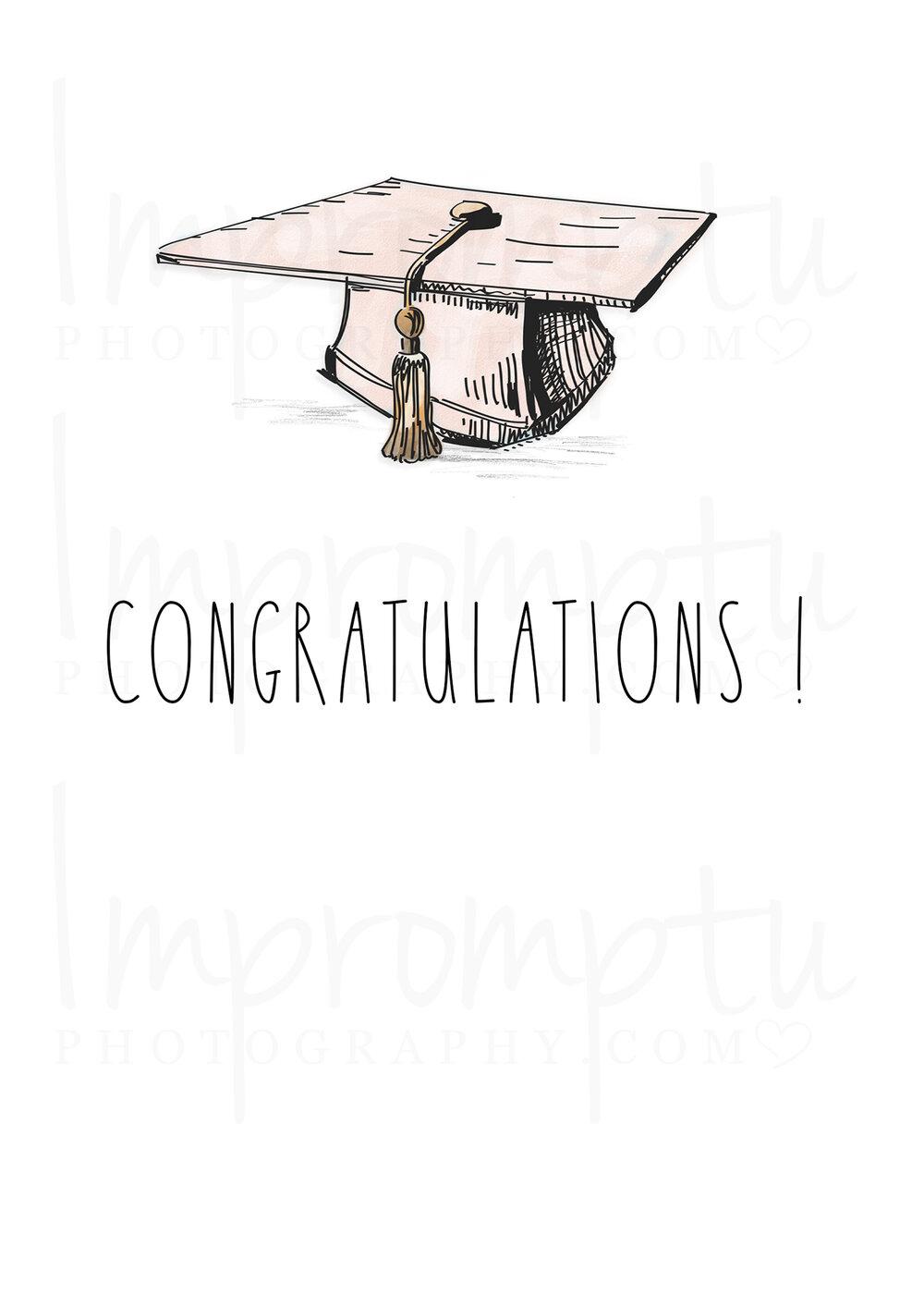 Rae Dunn Graduation Cap Pink Inspired 5x7 Printable Card Template Impromptu Photography