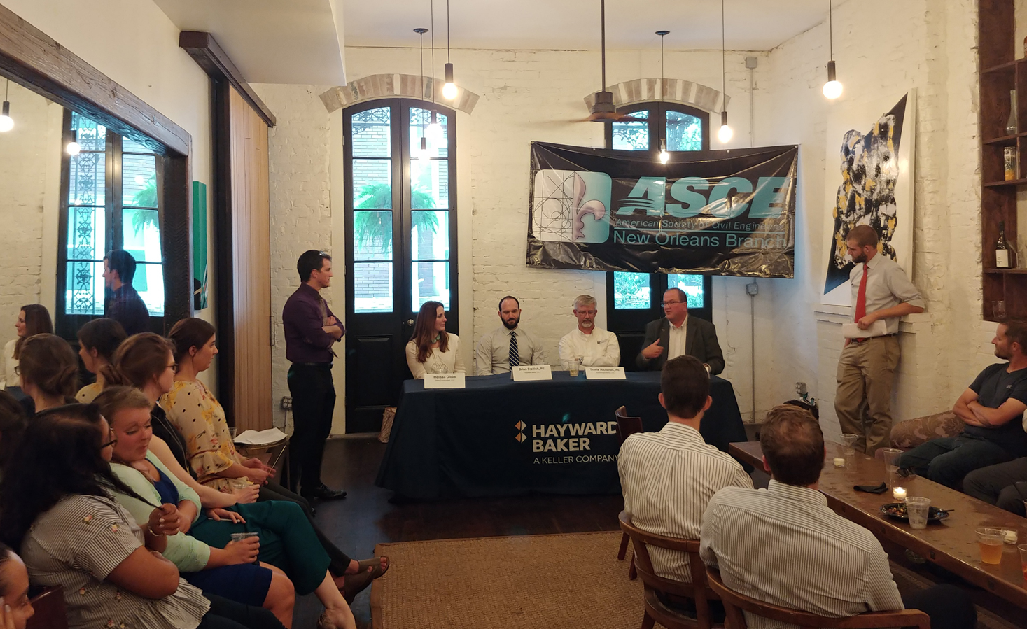 Panelists discussing engineers' role in construction