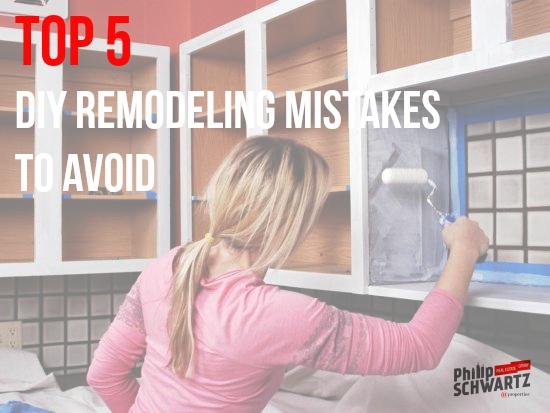 DIY remodeling mistakes
