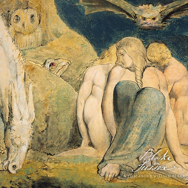 I labour incessantly and accomplish not one half of what I intend, because my Abstract folly hurries me often away while I am at work, carrying me over Mountains and Valleys, which are not real, in the land of abstraction where spectres of the dead wander.  _________________________________________  #Williamblake #catherineblake #blake #arthistory #engraving  #symbolism #Mysticism #Poetrybook