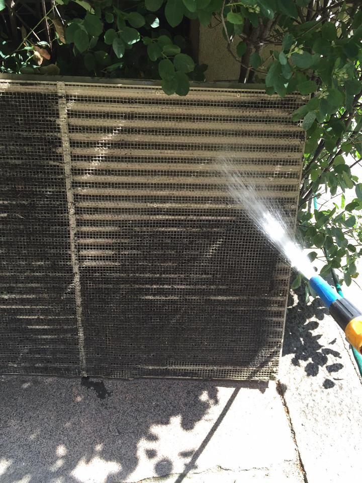 Etter bilde av vask av friskluftinntak til ventilasjonsanlegg
