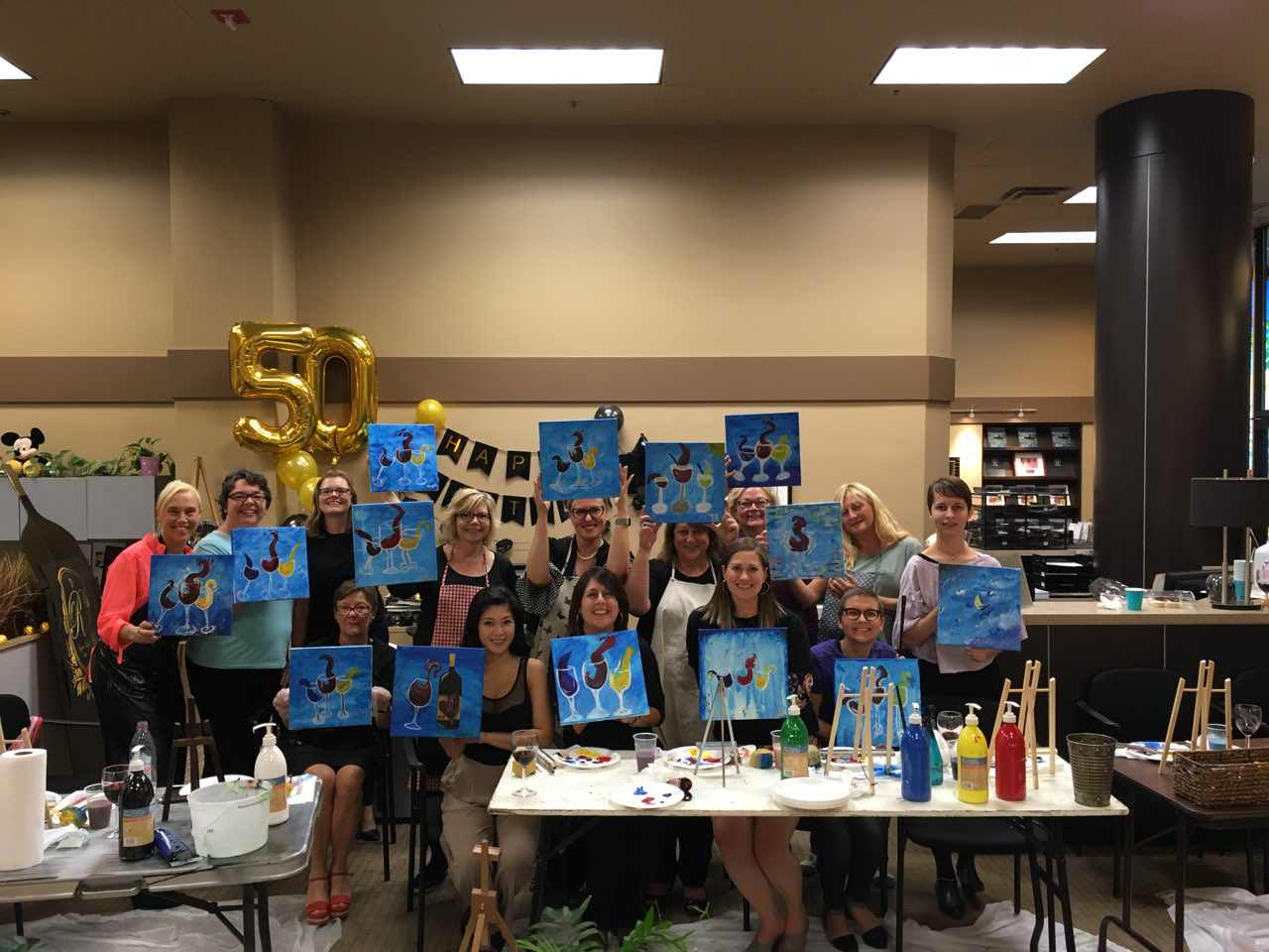 Rhonda's Birthday - Paint Night!