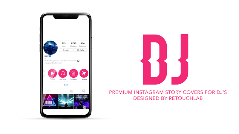 Premium Instagram Story / Highlights Covers for DJ'S, Artists and Influencers (PSD)