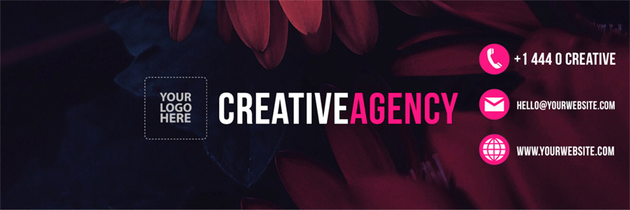 Creative Agency Twitter Header (PSD)