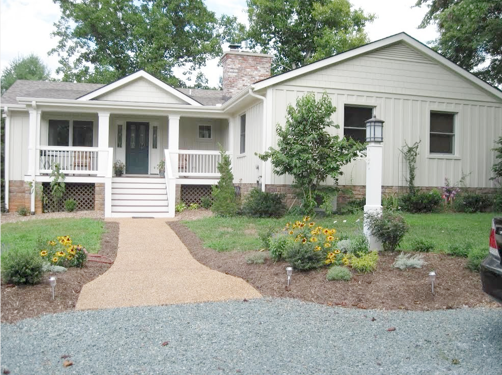 House exterior and walkway