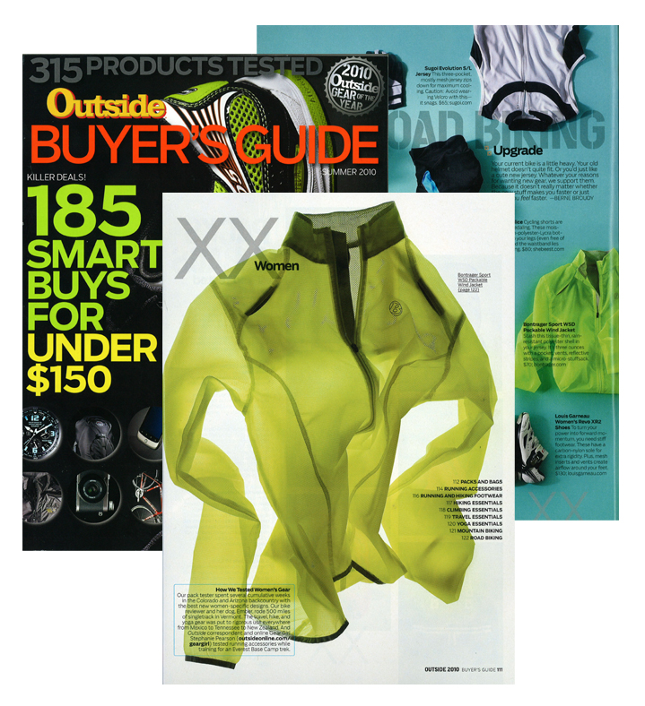 2010  Women's Sport Packable Windshell  Outside Magazine Buyer's Guide 2010 Gear of the Year Awards - Windshells
