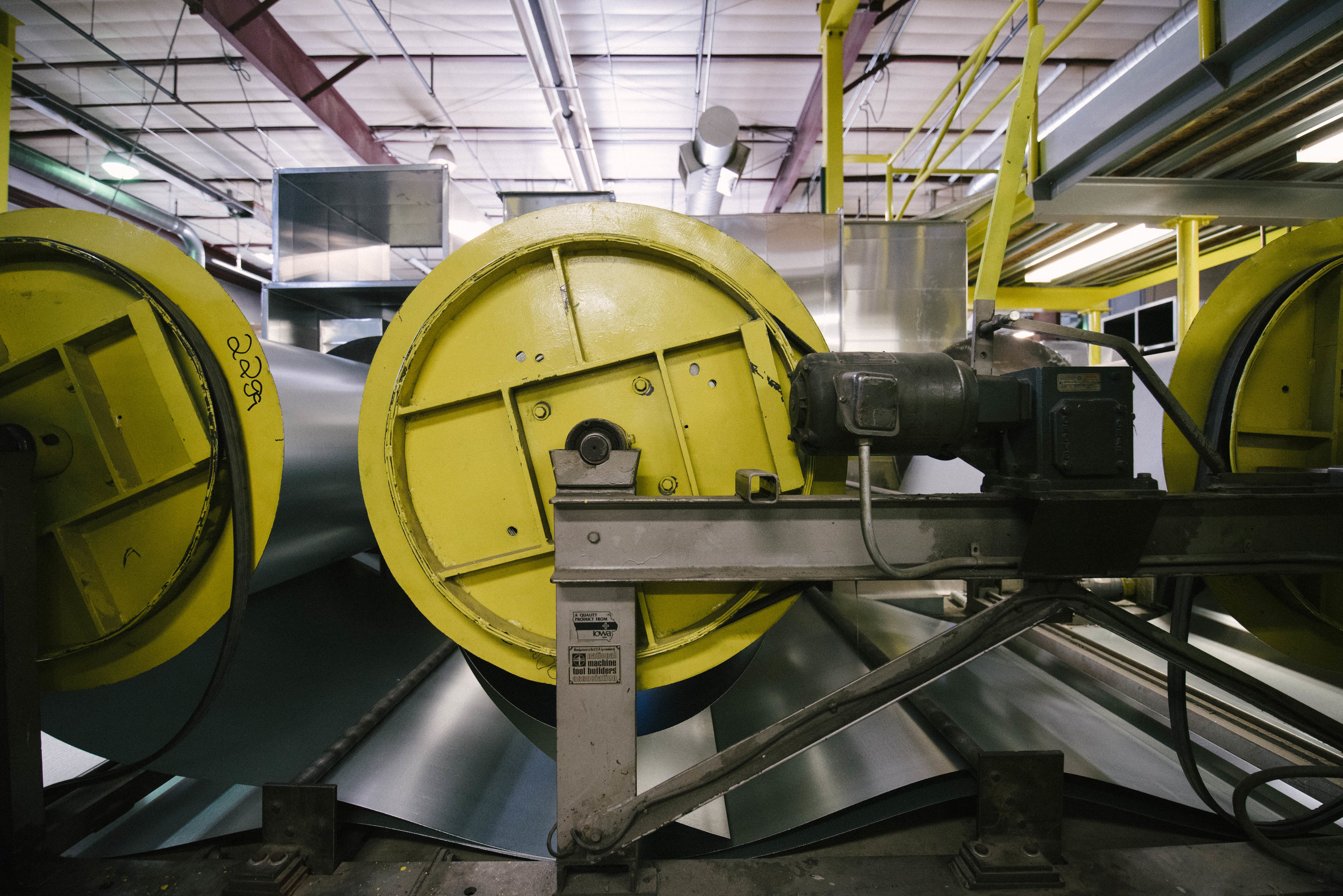 The automated machinery gives Kuck Mechanical Contractors the capability to produce custom sheet metal for industrial mechanical uses.