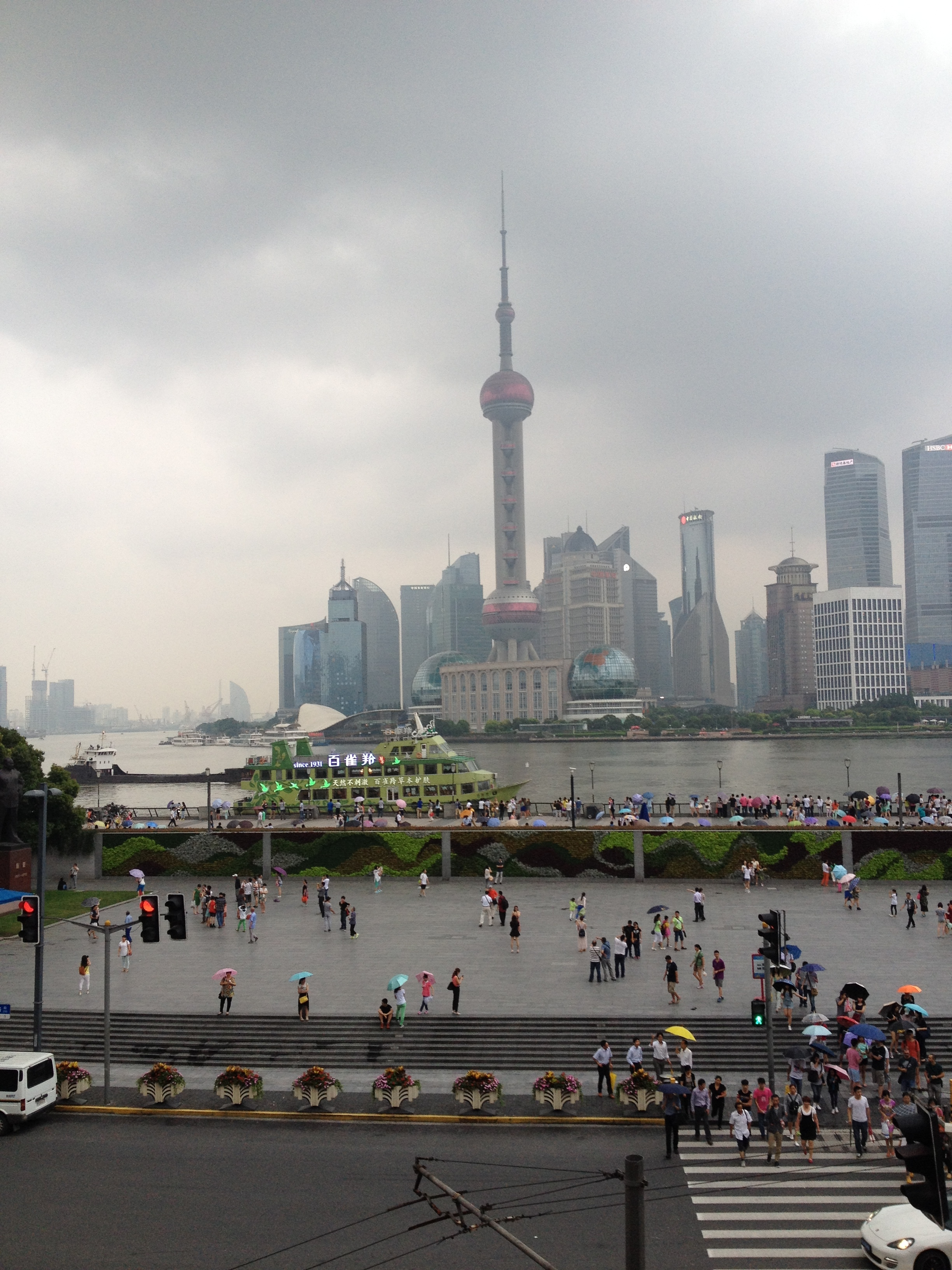 Shanghai's Bund and Oriental Pearl T.V. Tower