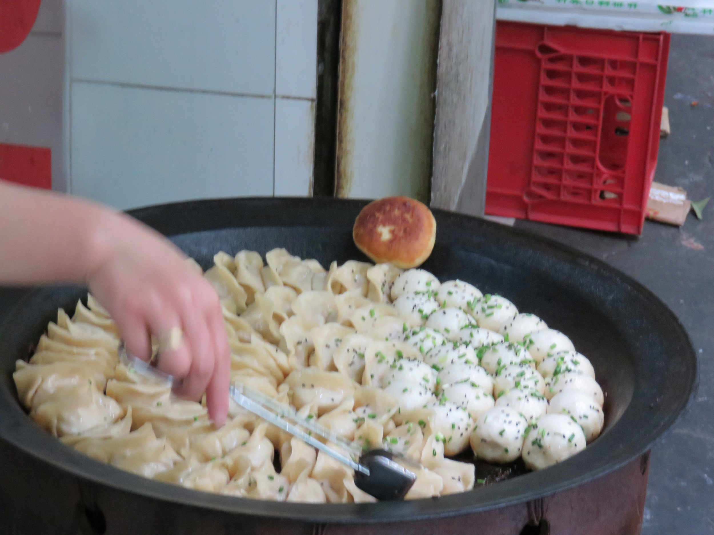 Guotie - fried dumplings - the best snacks
