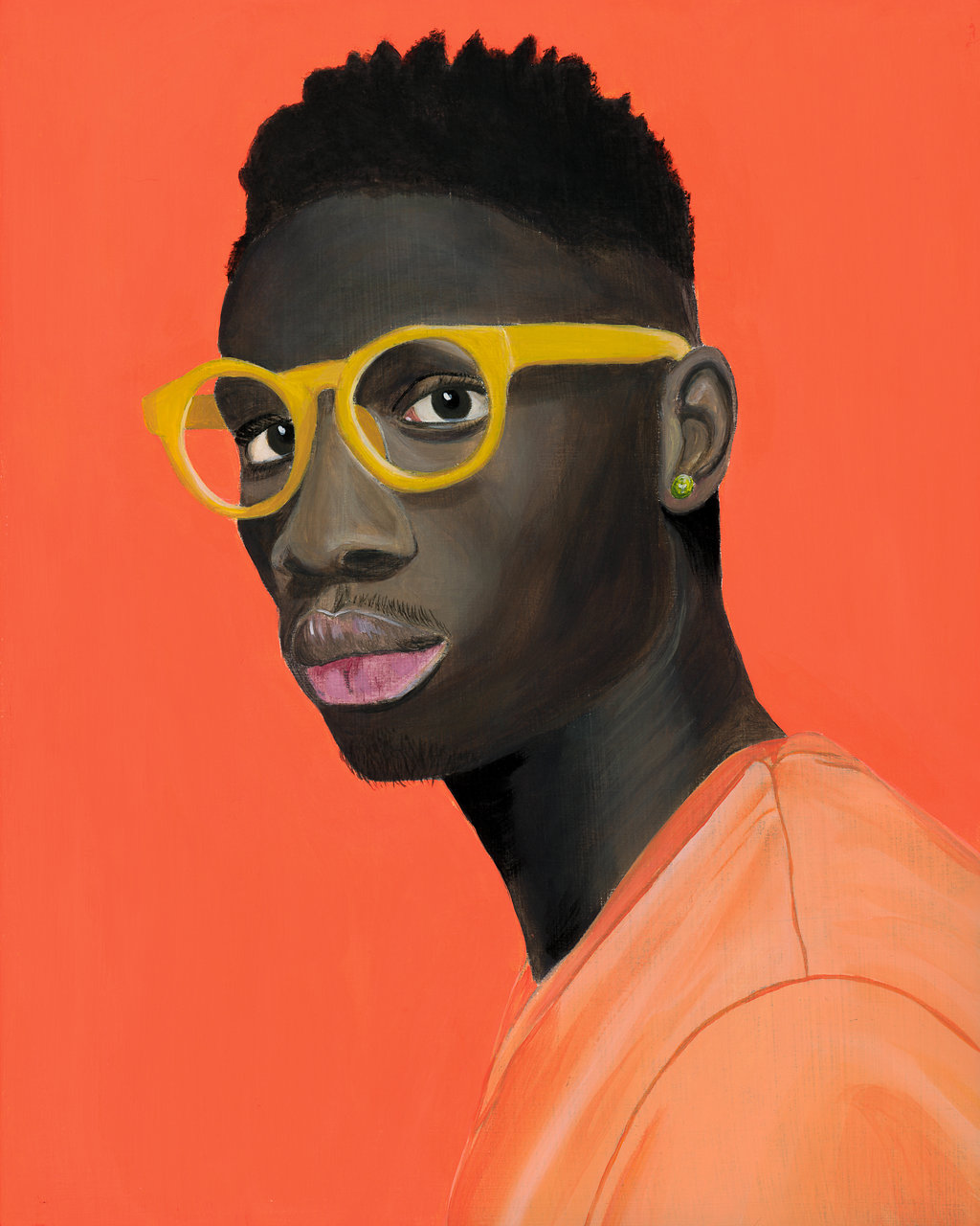 black man man yellow glasses- Curious Darling - J Danielle Wehunt