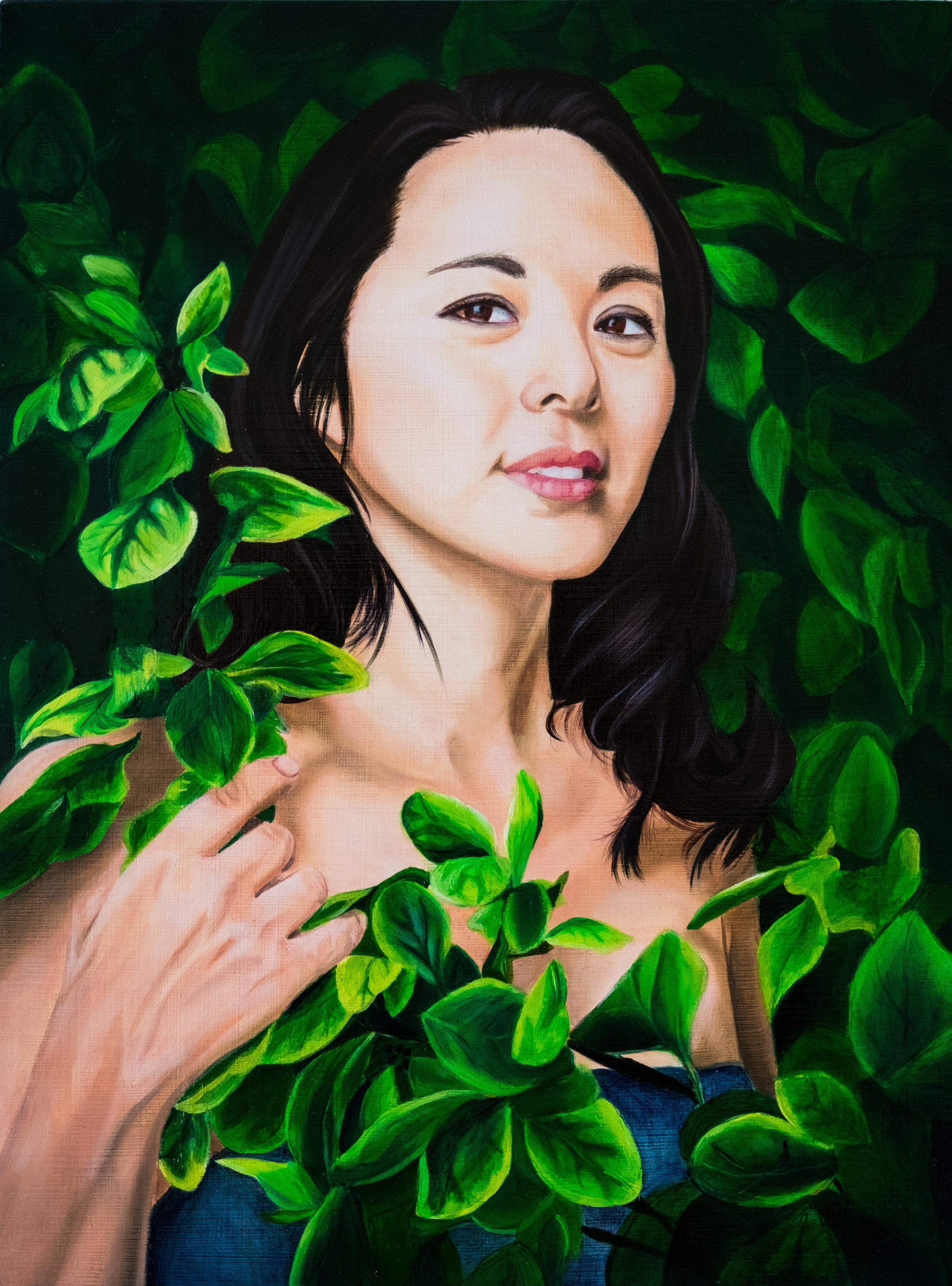 Custom Portrait Painting Curious Darling J Danielle Wehunt