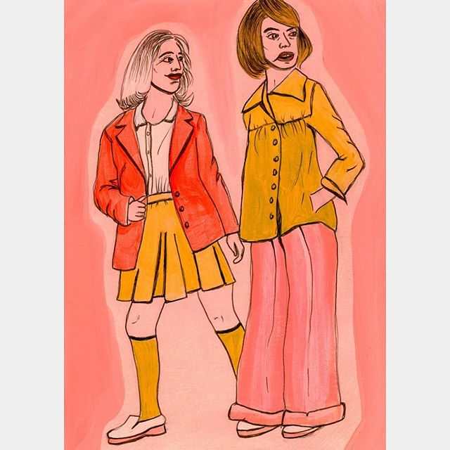 I couldn't find an image from Gucci that I wanted to draw today and I timelapsed this one so I feel like it looks a little off (if you could even say that about this series... 😂). I think I'm just going to draw whatever  awkward fashion I find that makes me feel cozy and comfy. I love awkwardness. It's wonderful. @inktober 13/31