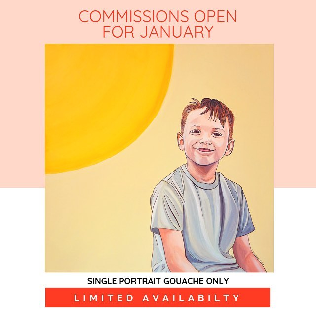 Hey you guys! I'm opening up commissions for the month of January. After a lot of thought, I've decided to offer open commissions only twice a year in order to work on personal projects more with more focus. I'll be taking single portrait commissions (meaning, one subject per painting) the entire month of January or until I've reached the maximum number I can take before I begin my new personal series in February. It's first come, first serve! The next open commission window won't be until September (if you want them for Christmas gifts, you should commission them the), so speak now or hold your peace until the Fall 2019. 😘❤️ HAPPY NEW YEAR!