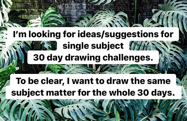 Give me your ideas. I am running on empty.