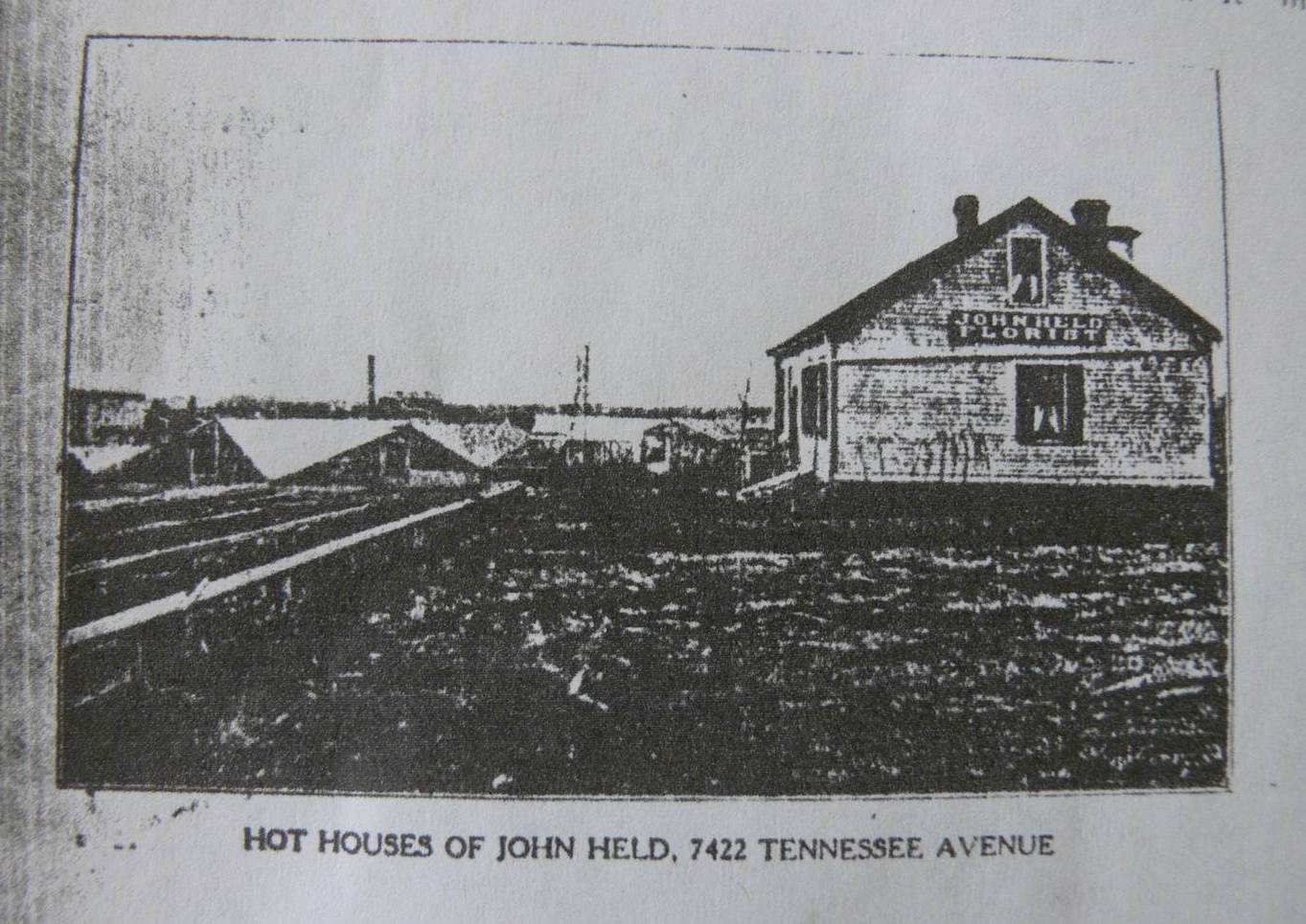 The farm's footprint started out as a flower farm, and it has returned to its roots through Urban Buds. In this undated historical photo, you can see the origins of the property.