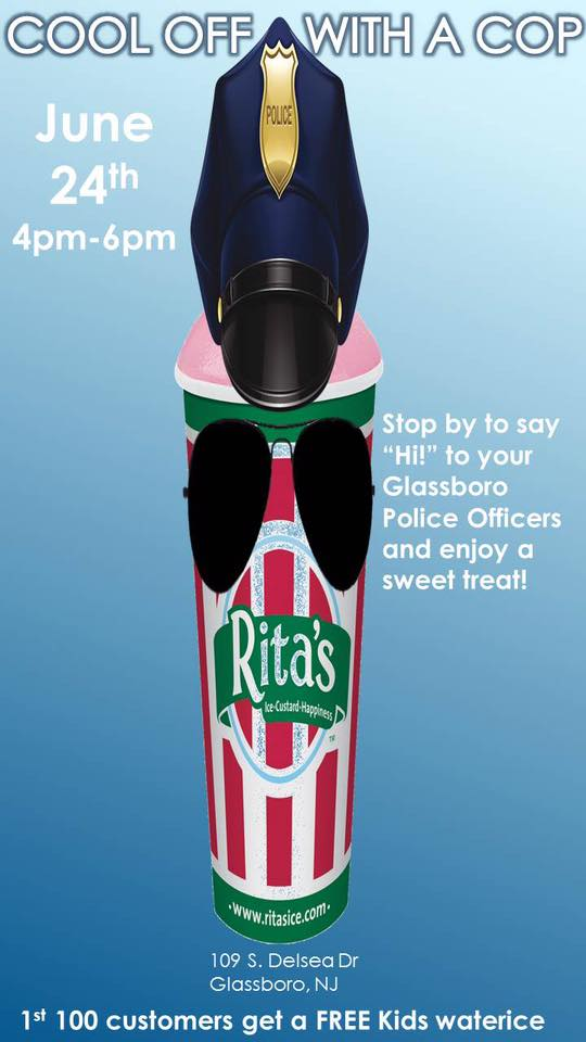 share ritas water ice water ice with glassboro police
