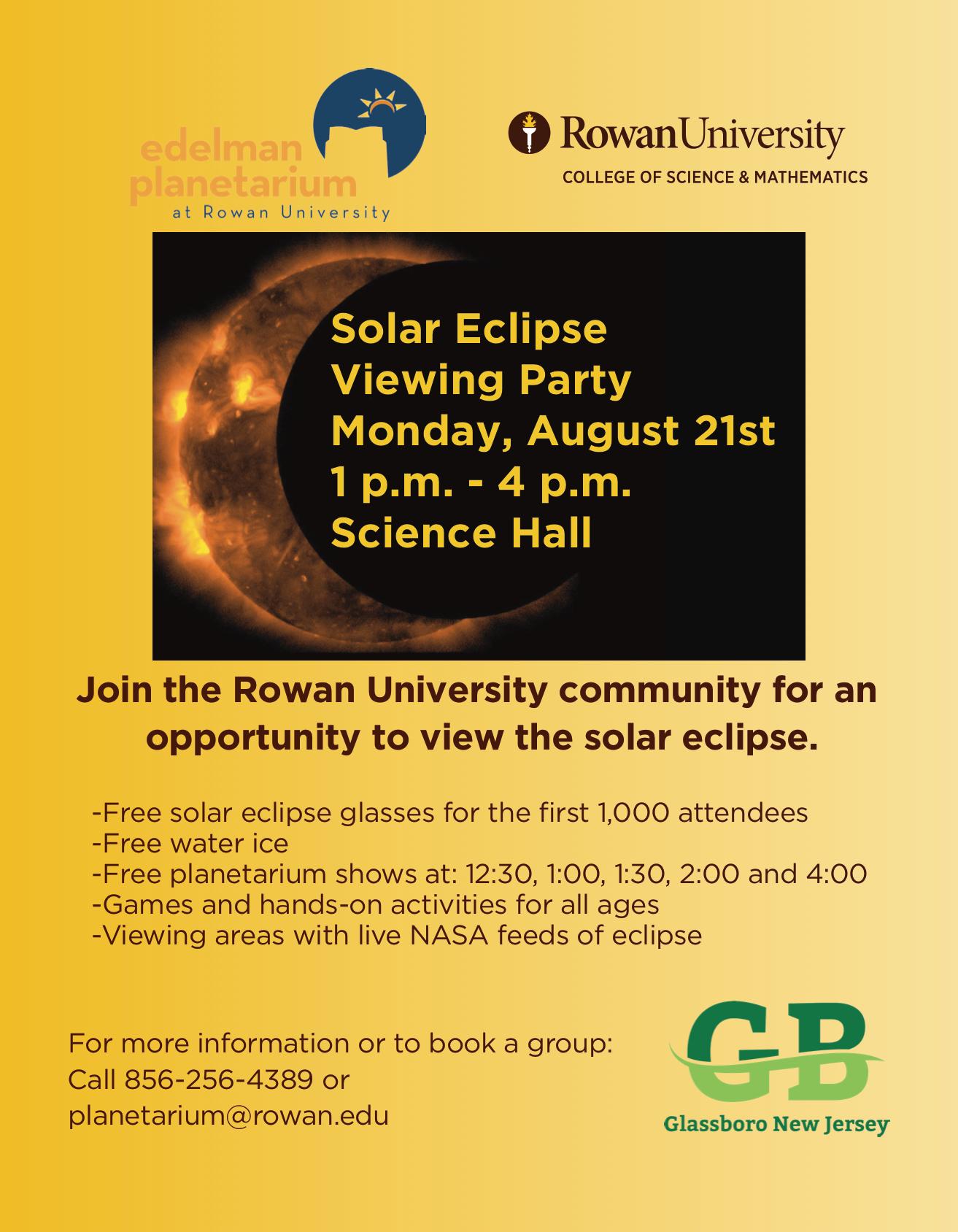 glassboro solar eclipse party