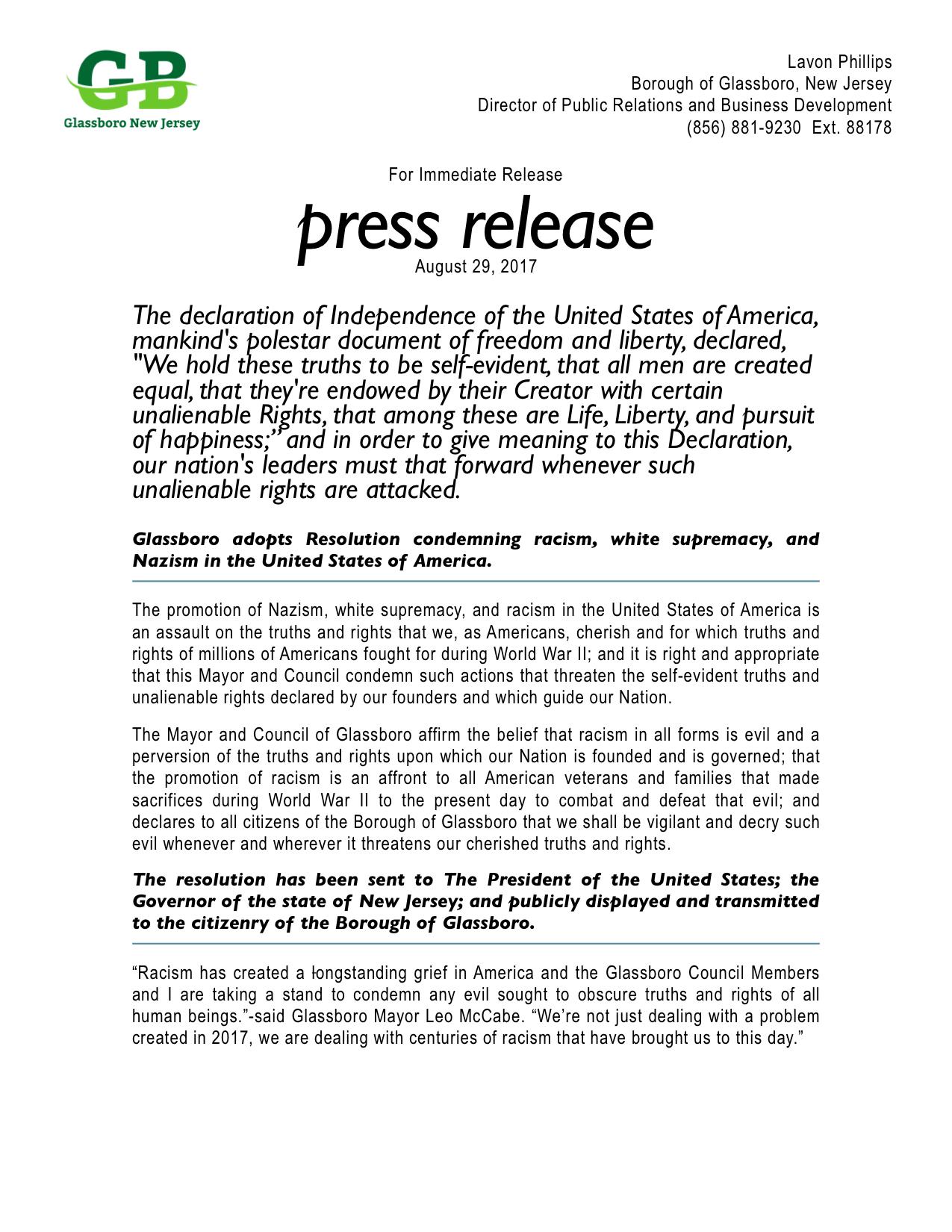 VERSION 2: Glassboro NJ Press Release Resolution Condemning Racism.jpeg