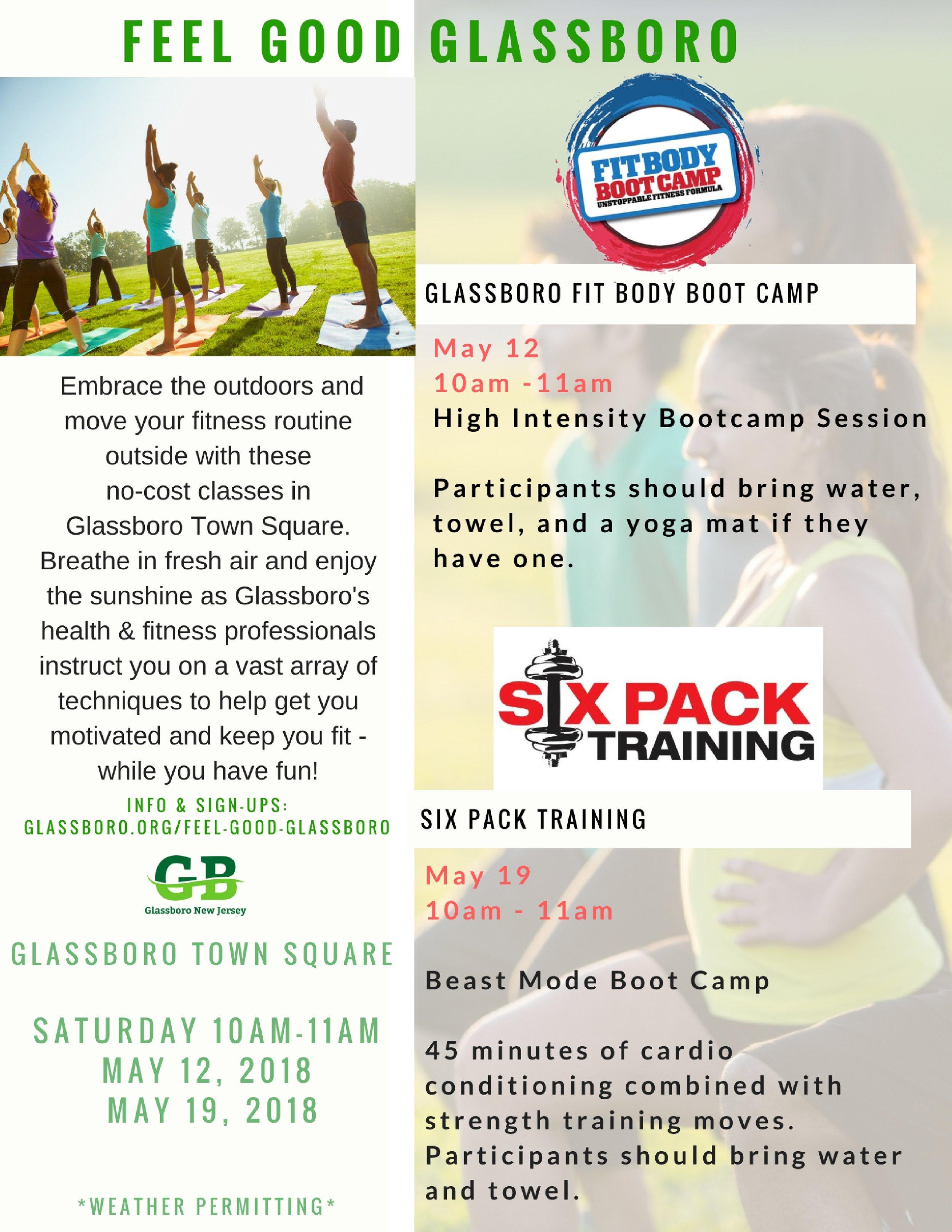 Feel Good Glassboro exercise days in Glassboro Town Square.jpg