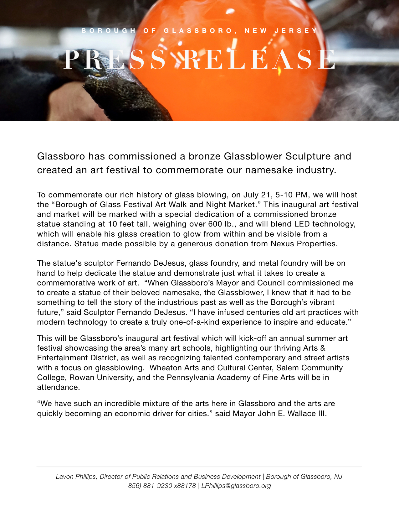 Glassboro NJ Press release Borough of Glass Festival.jpeg