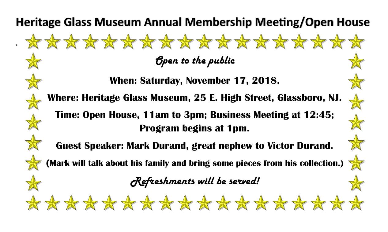 Heritage Glass Museum Annual Membership Meeting:Open House.jpeg