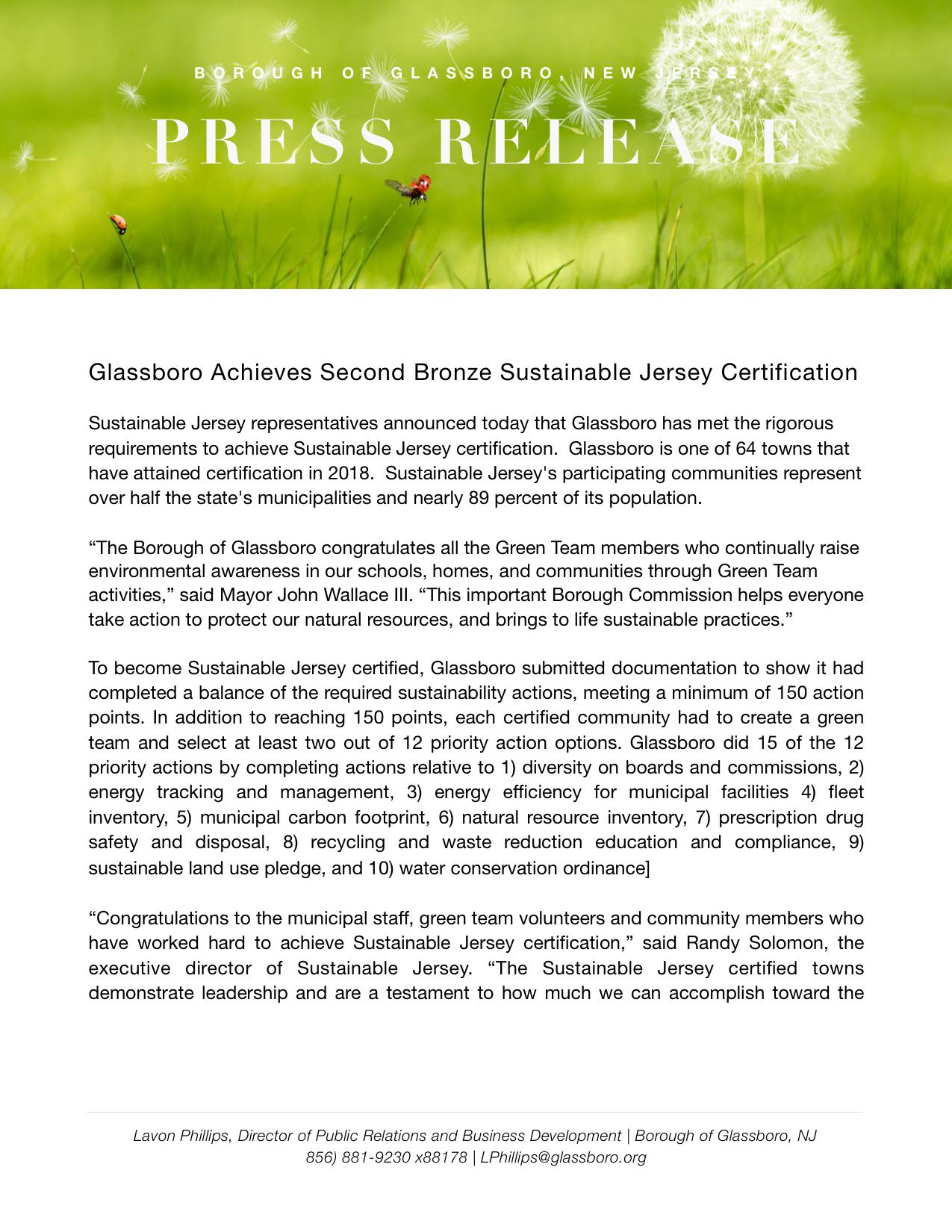 Glassboro NJ Press release Sustainable NJ Certification  copy.jpeg