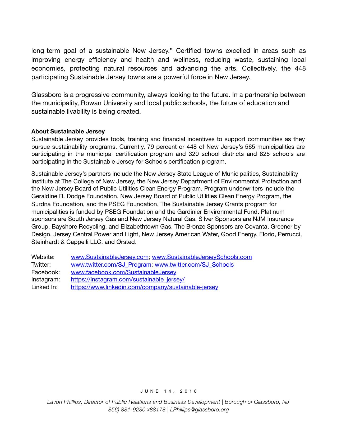Glassboro NJ Press release Sustainable NJ Certification  copy 2.jpeg