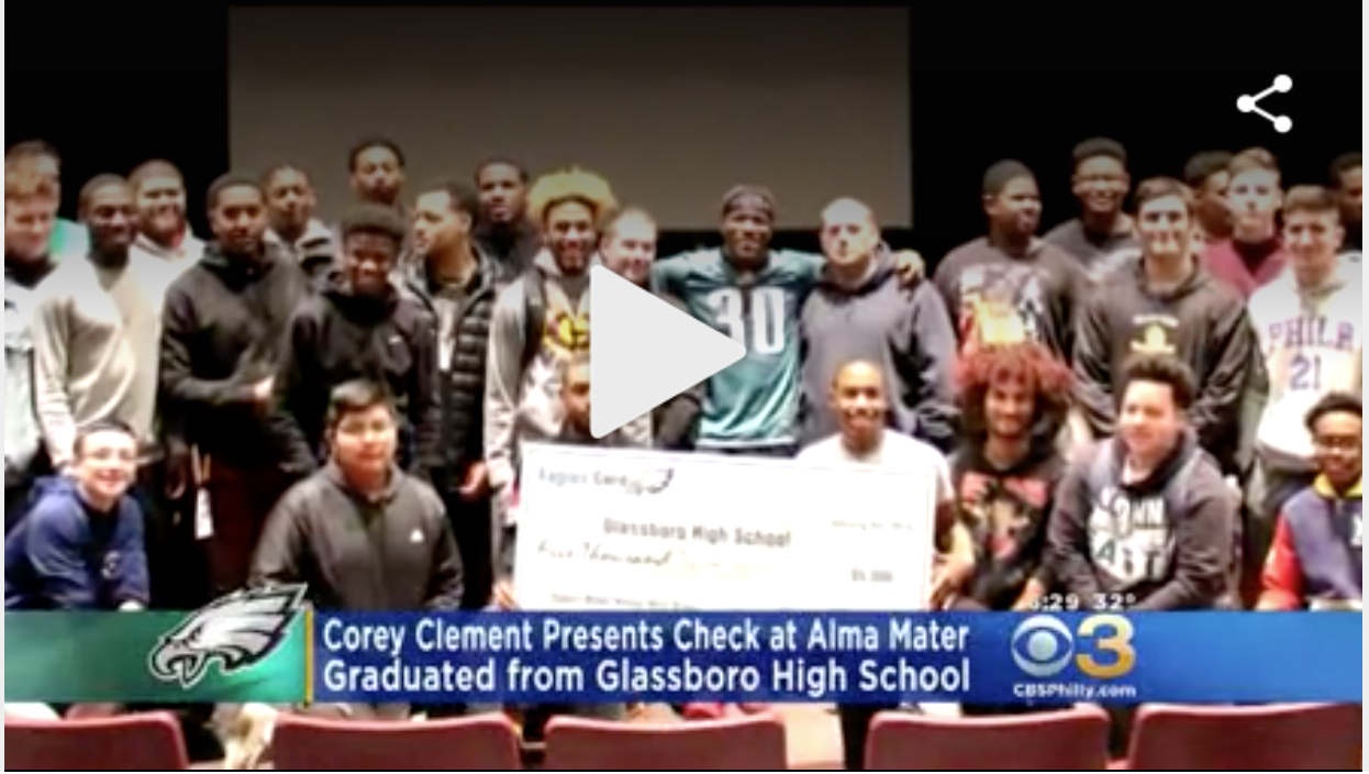 glassboro Eagles Running Back Corey Clement Presents His South Jersey High School With $5,000 Check.png