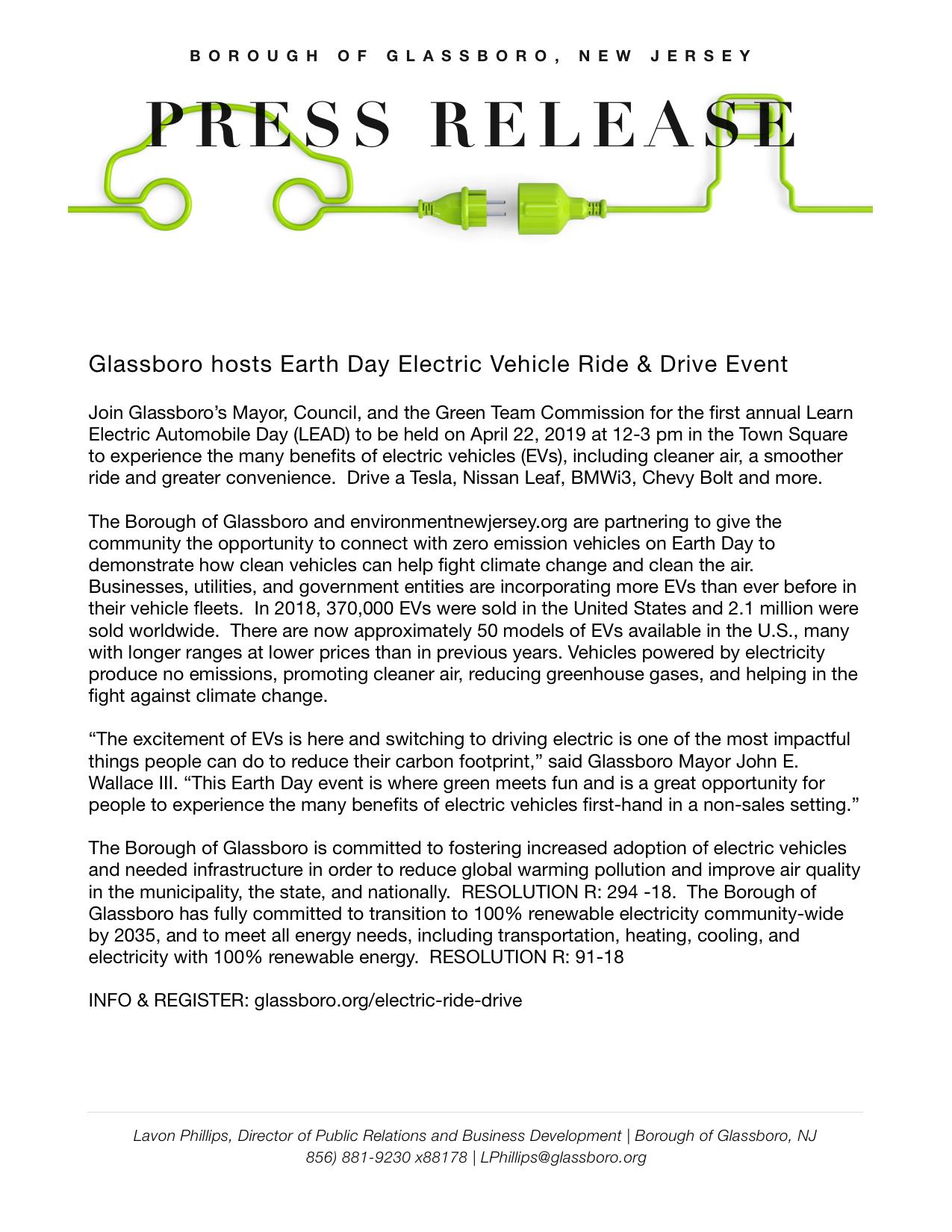 Glassboro NJ Press Release for Earth Day Ride & Drive Event.jpeg