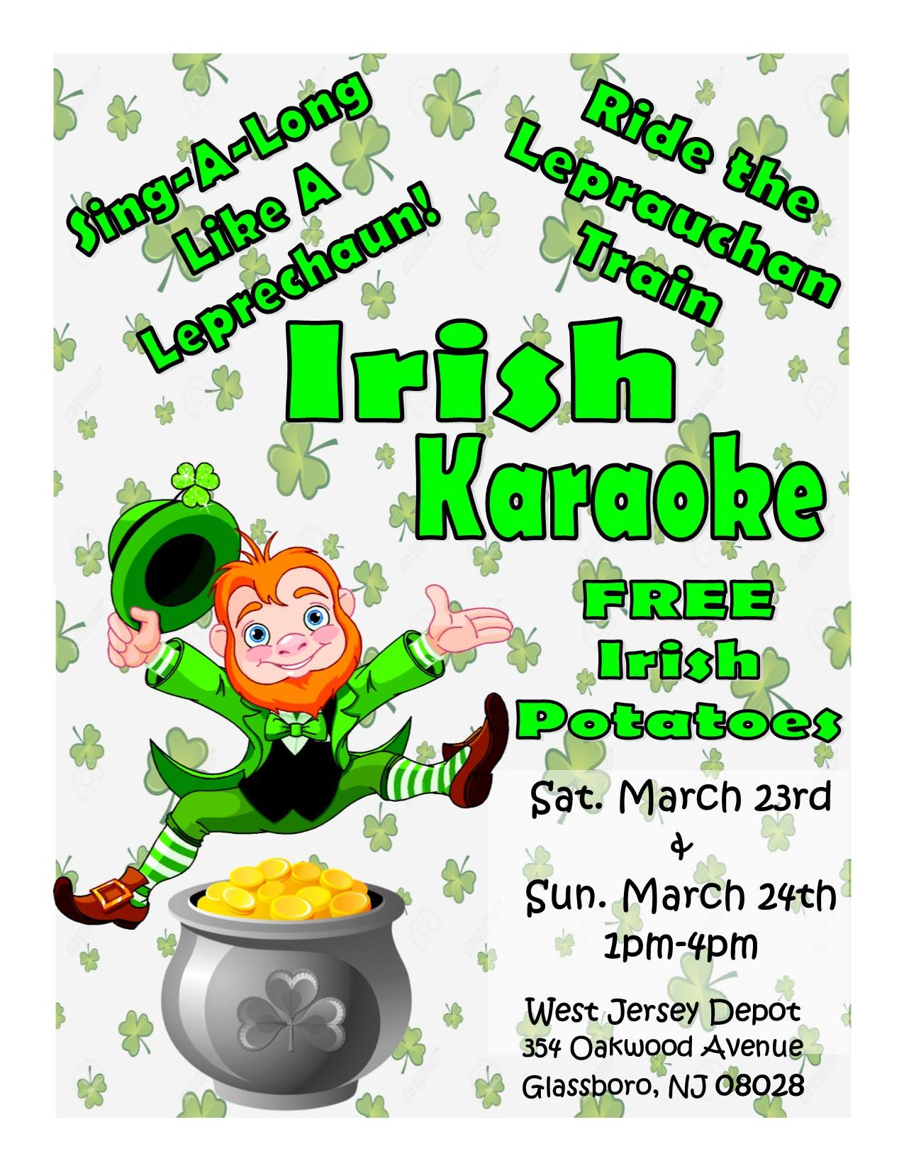 March Open House at the West Jersey Depot-Irish Karaoke!.jpg