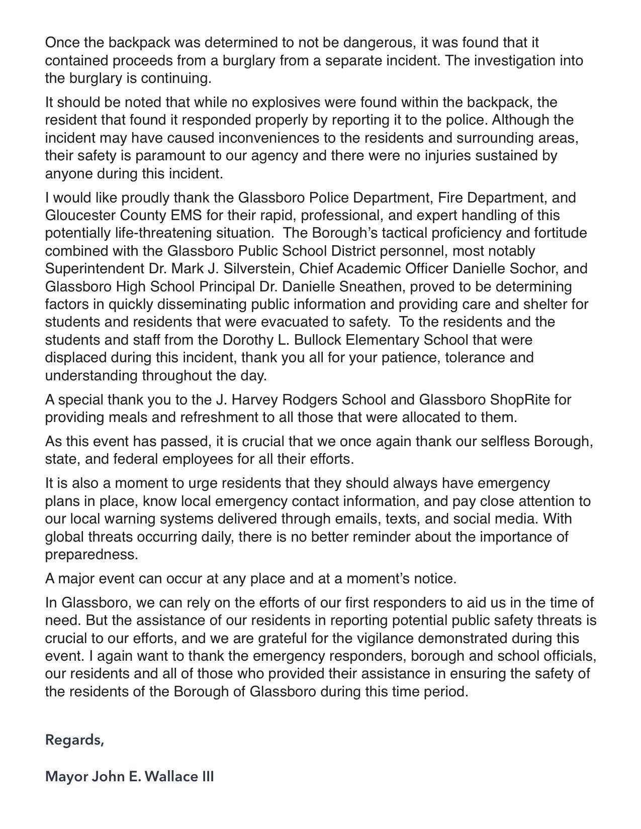 Glassboro mayor remarks Suspicious Package 2019 2.jpeg