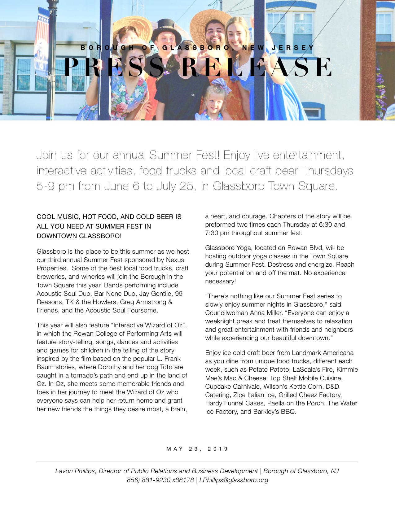 Glassboro NJ Press release SUMMER FEST 2019.jpeg