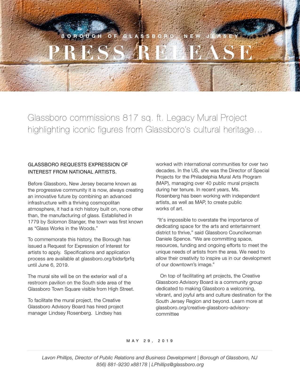 Glassboro NJ Press release TOWN SQUARE MURAL.jpeg